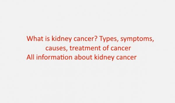 What is kidney cancer? Types, symptoms, causes, treatment of cancer