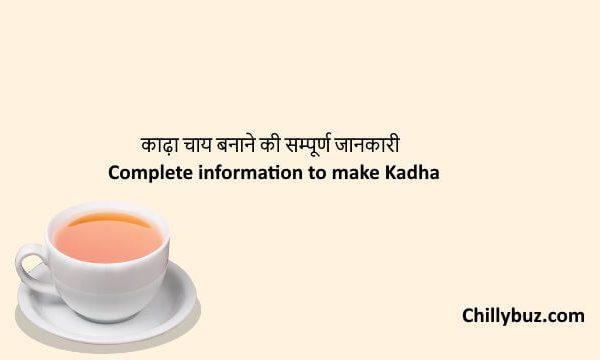 Kadha in hindi : काढ़ा चाय बनाने की सम्पूर्ण जानकारी