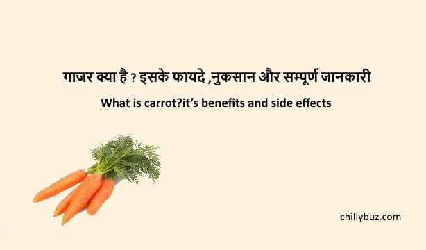 Carrot in hindi