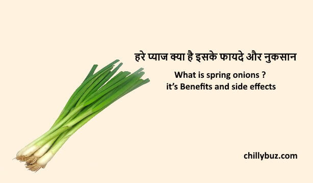spring onions in hindi